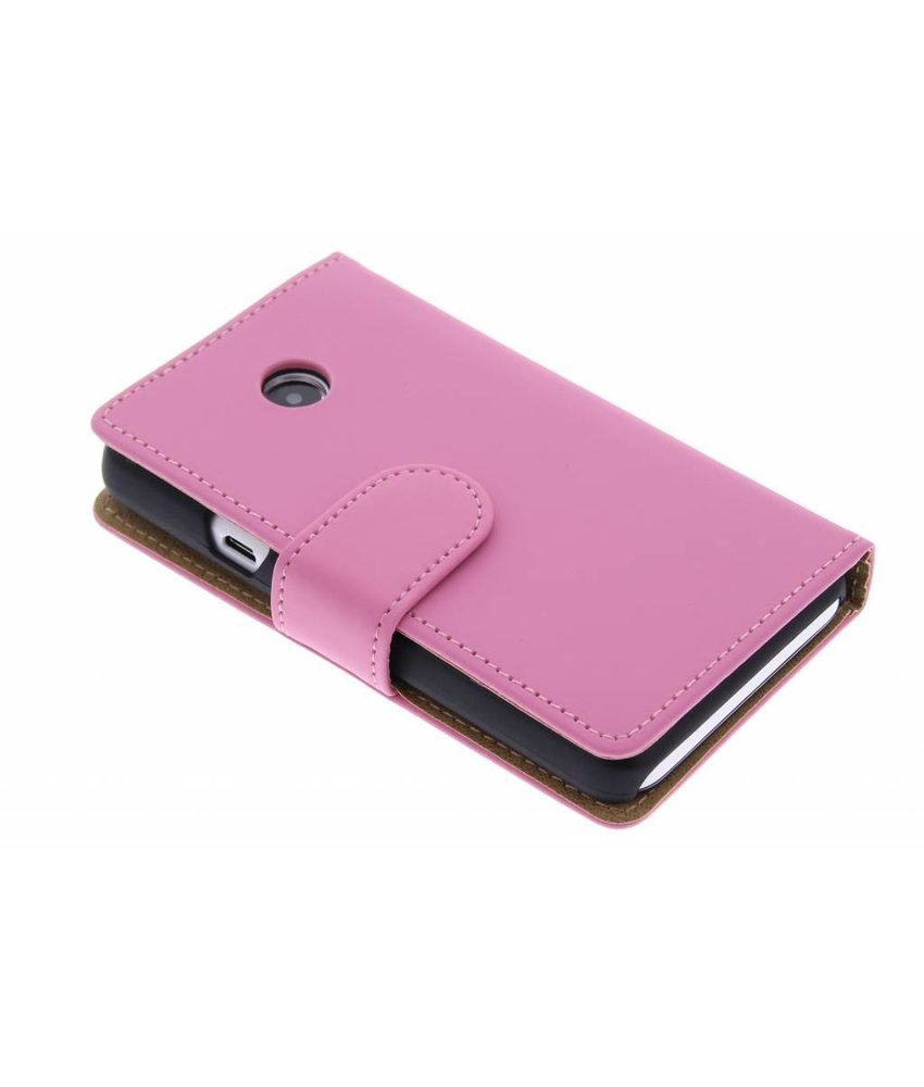 Roze effen booktype hoes Huawei Ascend Y330