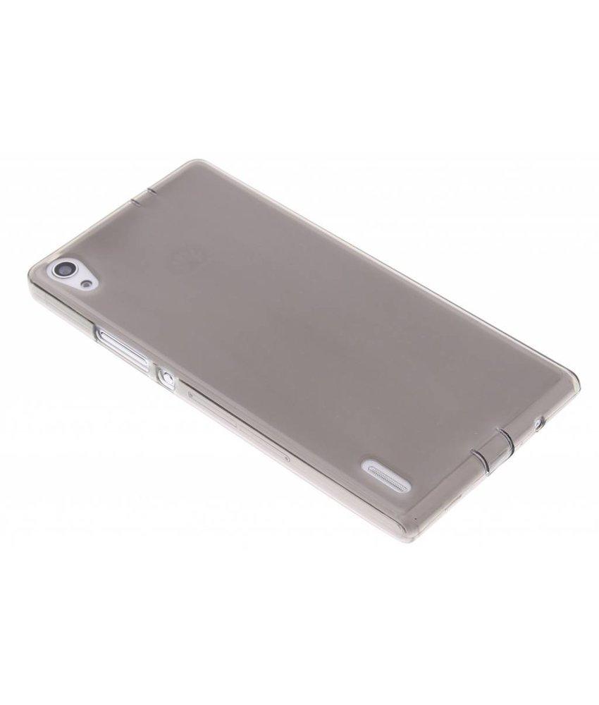 Grijs hard siliconen hoesje Huawei Ascend P7