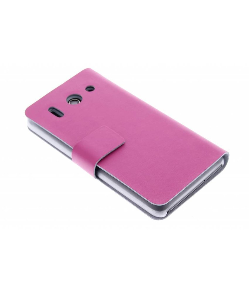 Fuchsia stijlvolle booktype hoes Huawei Ascend G510