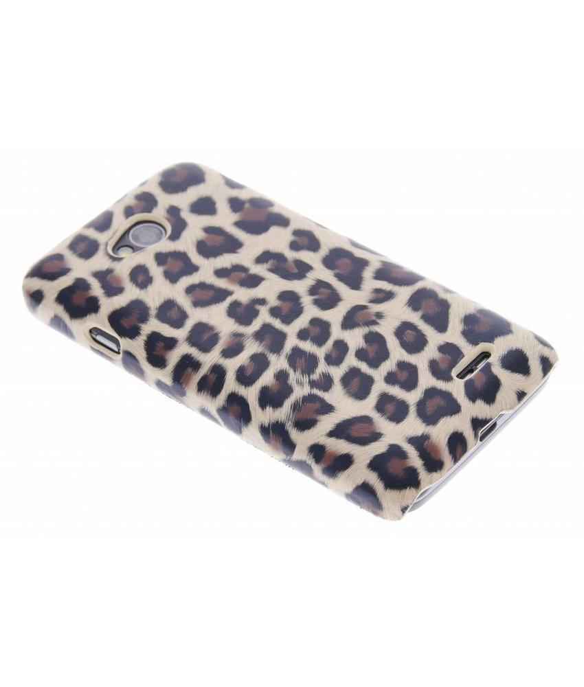 Bruin luipaard hardcase hoesje LG L70 / L65