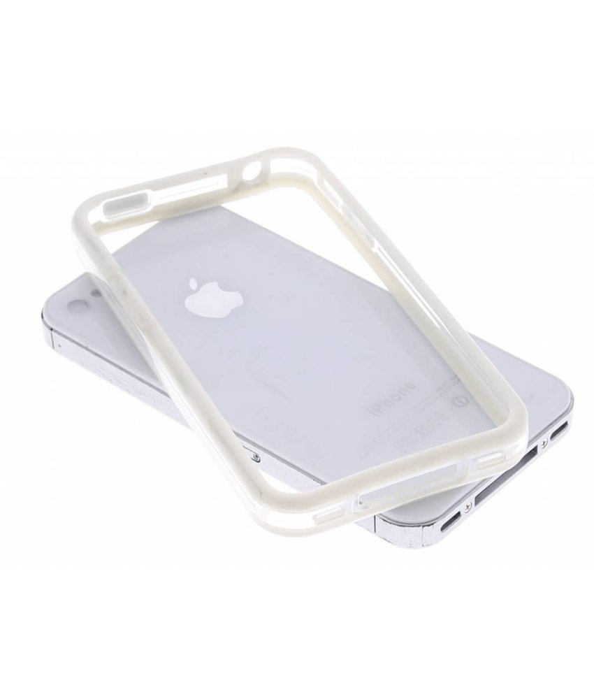 Dolce Vita wit transparant bumper iPhone 4 / 4s