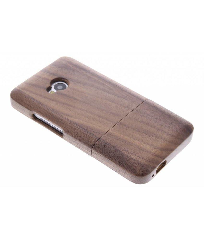 Echt houten hardcase hoesje HTC One