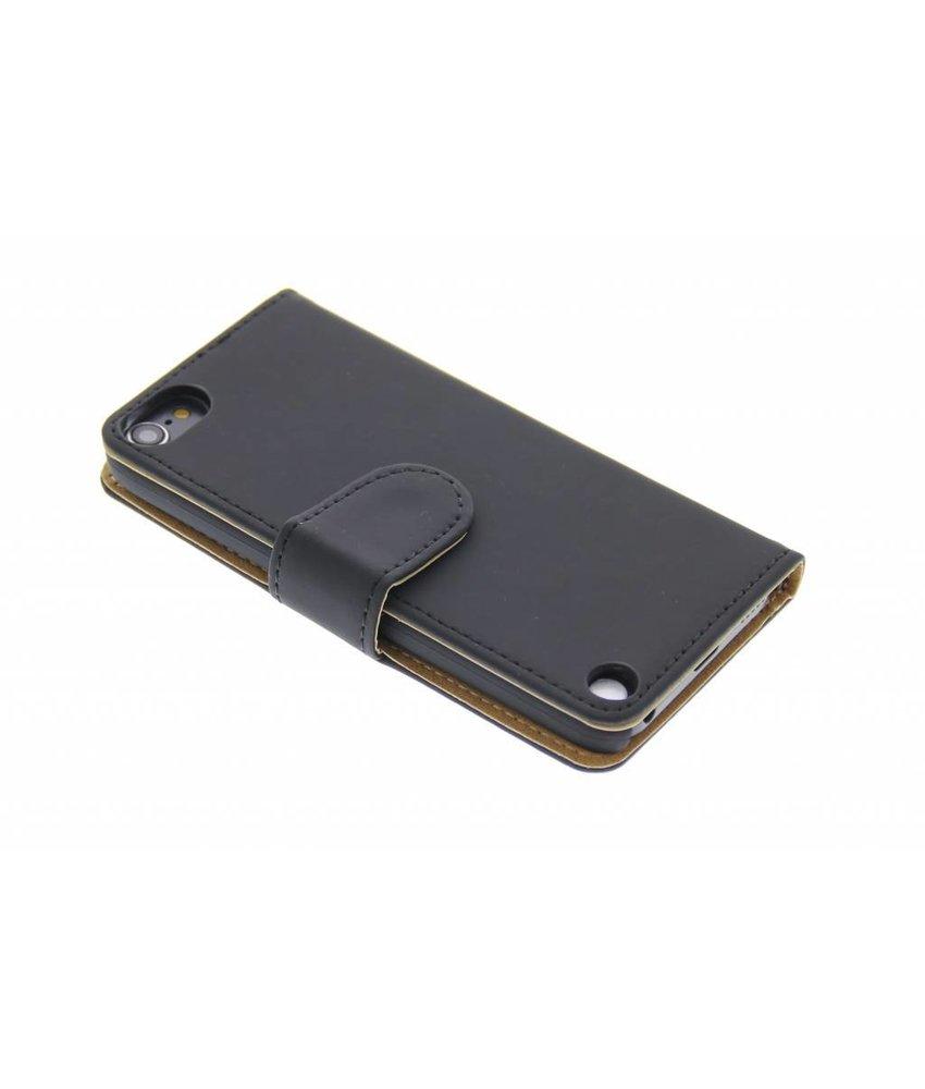 Zwart effen booktype hoes iPod Touch 5g / 6