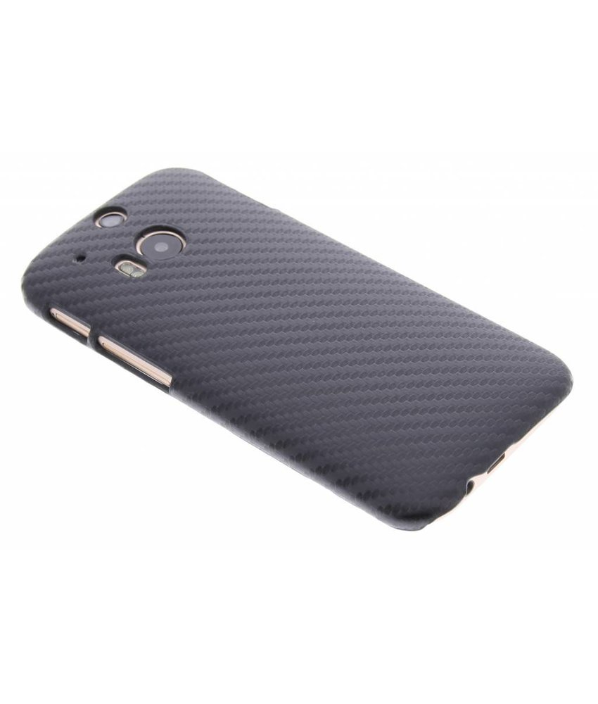 Zwart carbon look hardcase hoesje HTC One M8 / M8s