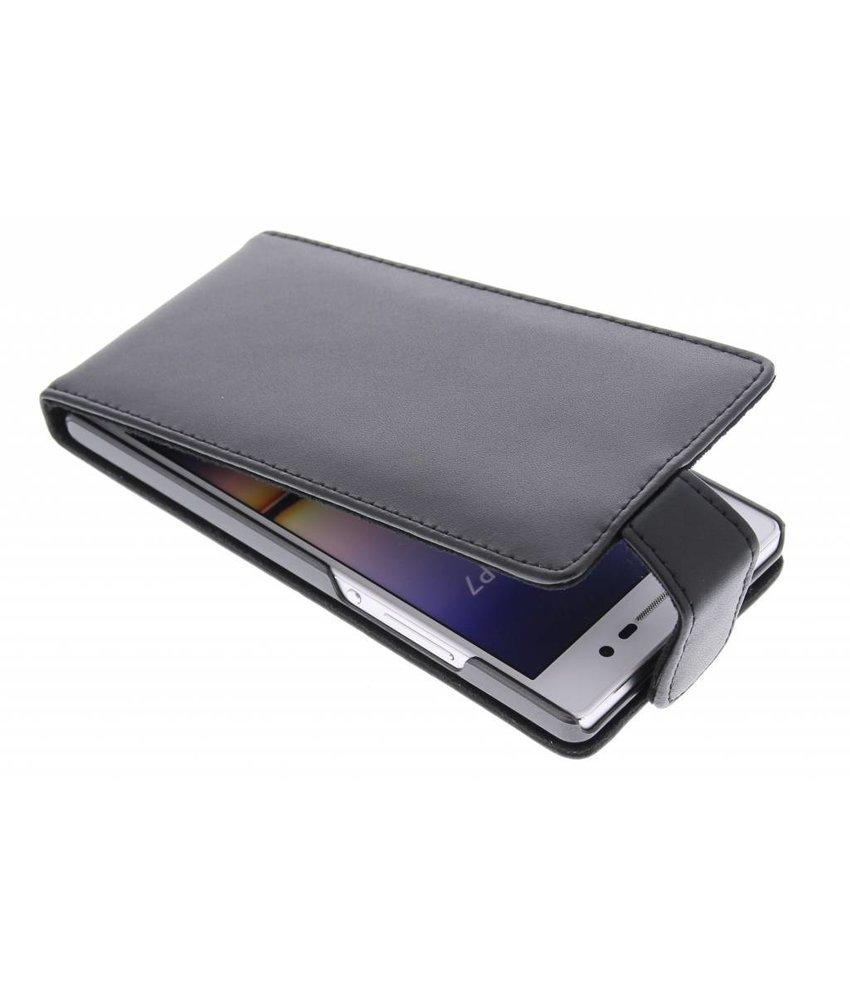 Zwart stijlvolle flipcase Huawei Ascend P7