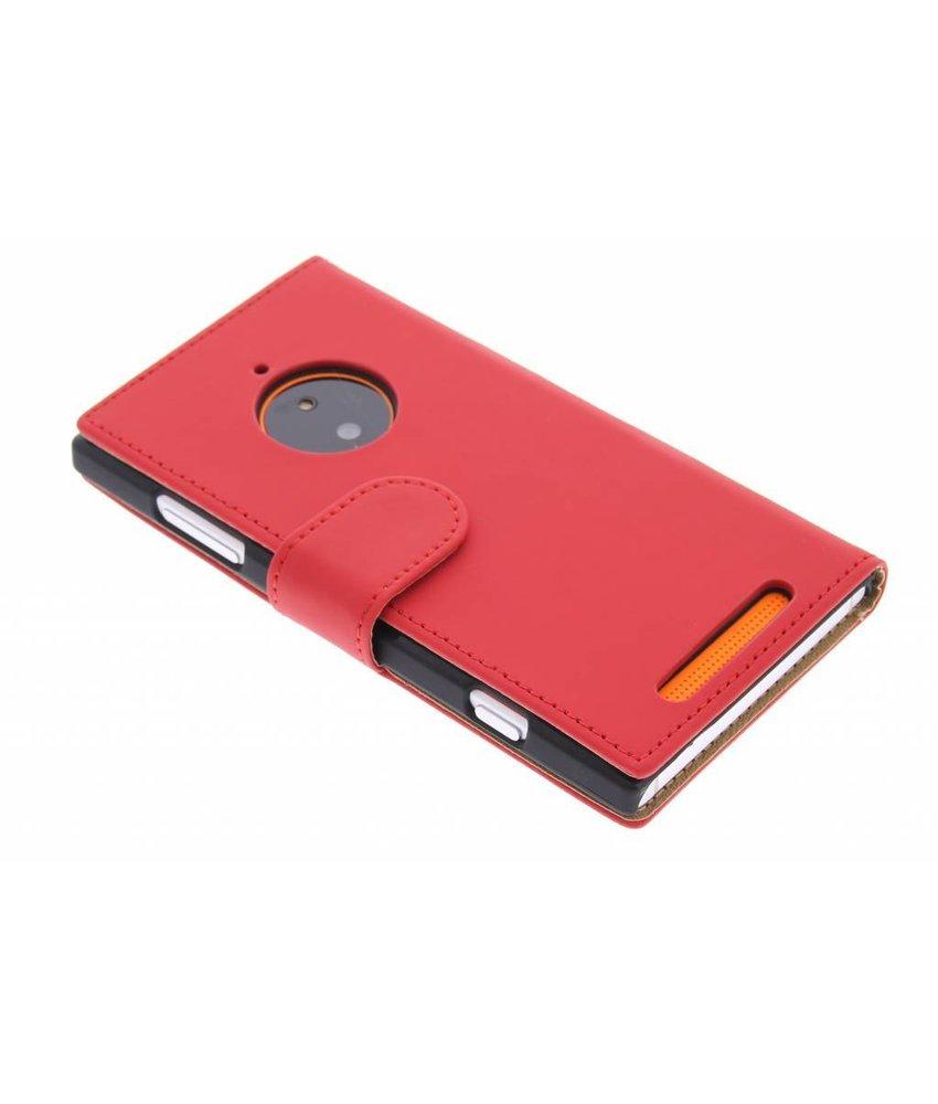 Rood effen booktype Nokia Lumia 830
