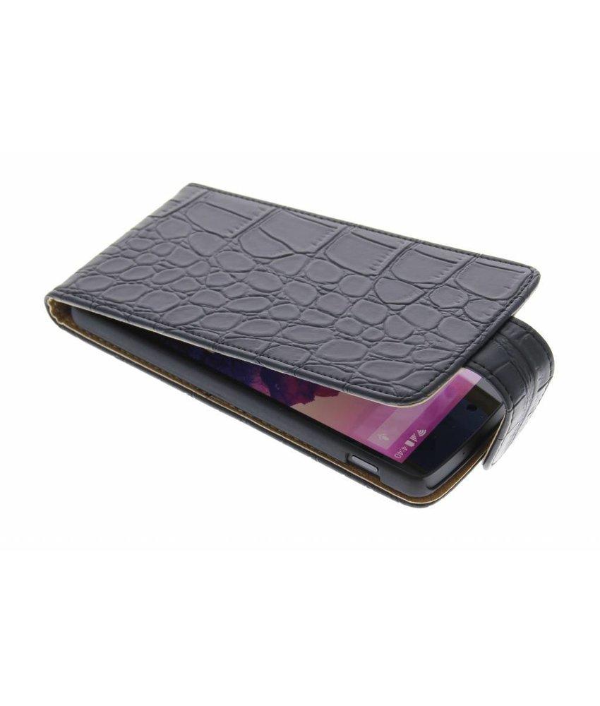 Zwart krokodil flipcase LG Nexus 5