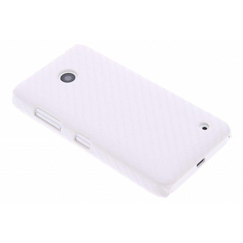 Wit carbon look hardcase Nokia Lumia 630 / 635
