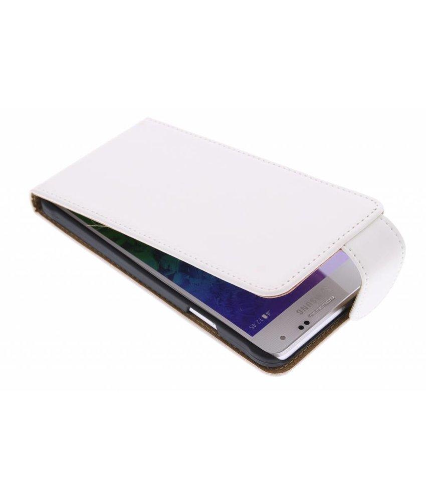Wit classic flipcase Samsung Galaxy Alpha