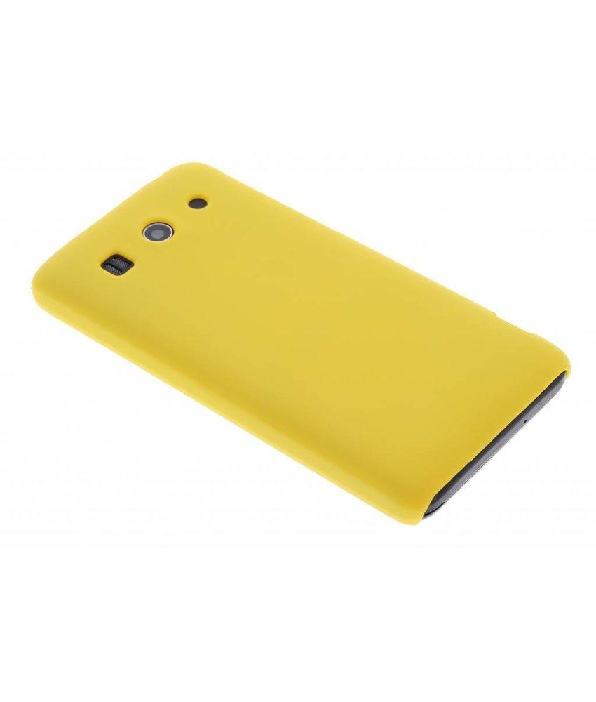Geel effen hardcase hoesje Huawei Ascend G525