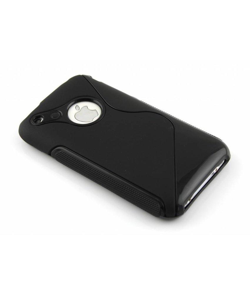 Zwart S-line TPU hoesje iPhone 3gs