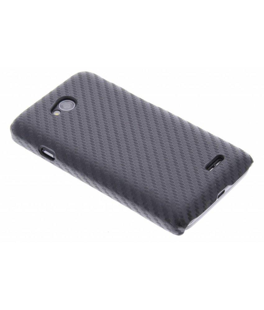 Zwart carbon look hardcase hoesje LG L70 / L65