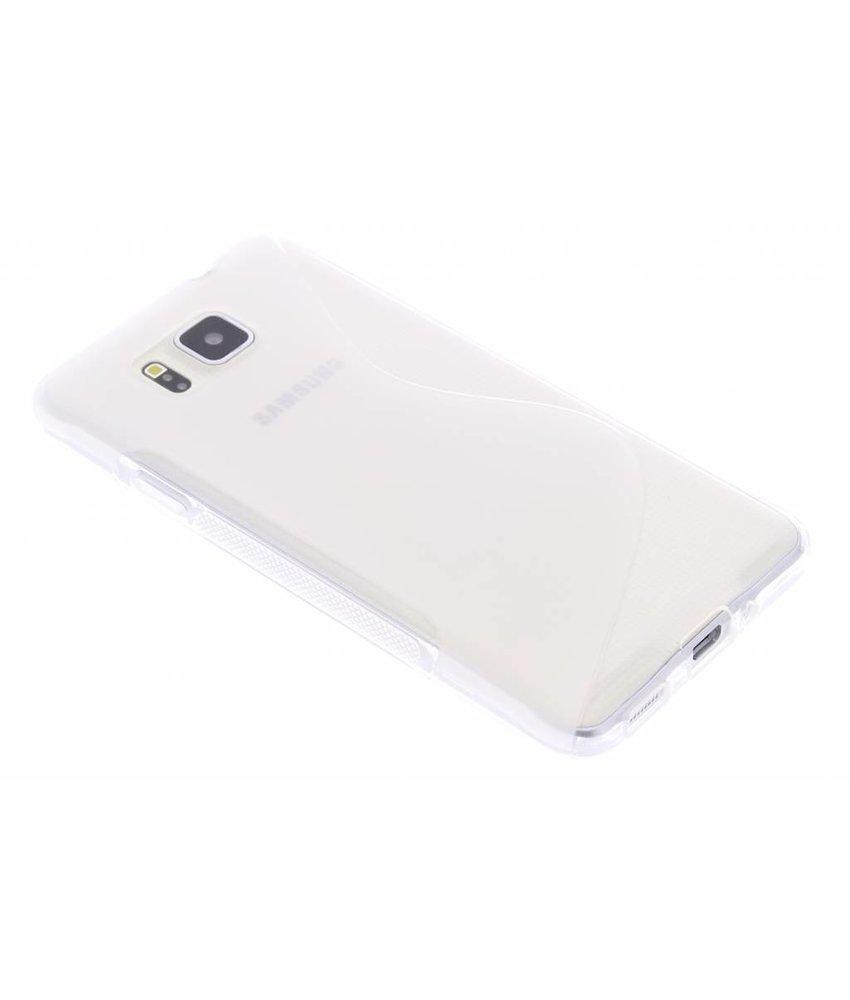 Transparant S-line TPU hoesje Samsung Galaxy Alpha