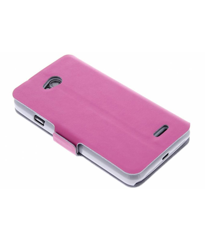 Fuchsia luxe booktype hoes LG L70