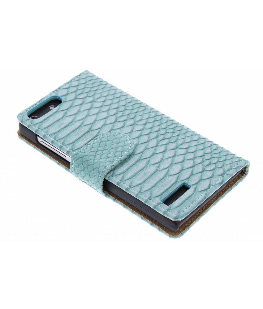 Slangen booktype hoes Huawei Ascend G6 4G