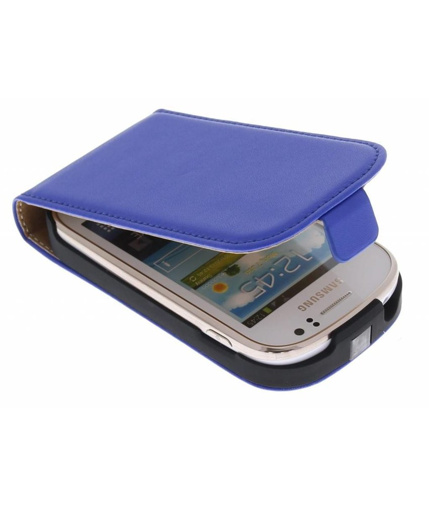 Blauw luxe flipcase Samsung Galaxy Fame
