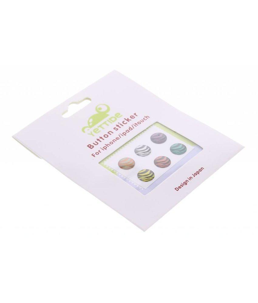 Zebra design Apple 3D button stickers