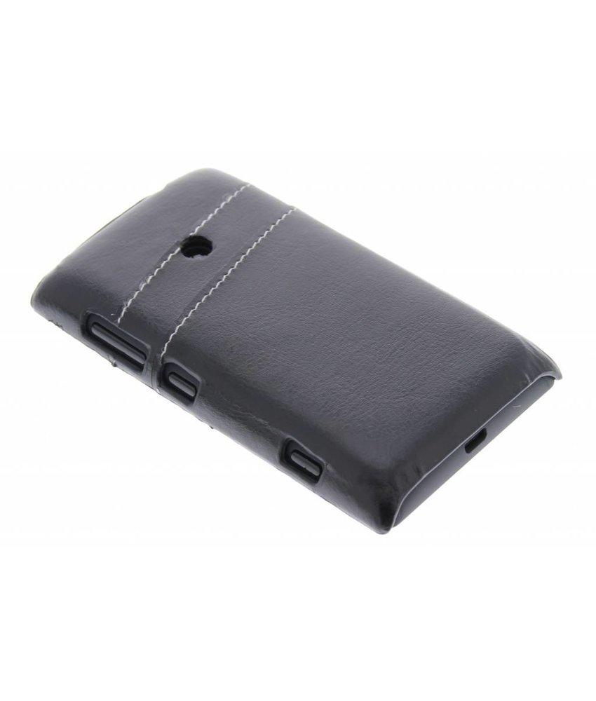 Zwart hardcase hoesje met vakjes Nokia Lumia 520