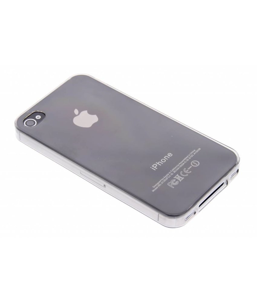 Ultra thin transparant TPU hoesje iPhone 4 / 4s