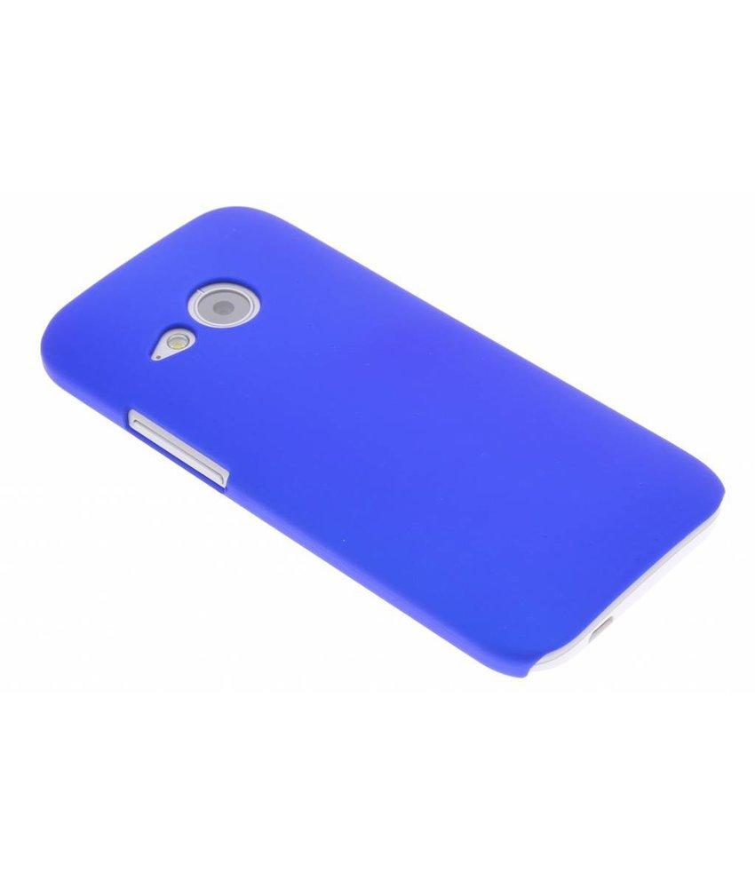 Blauw effen hardcase hoesje HTC One Mini 2