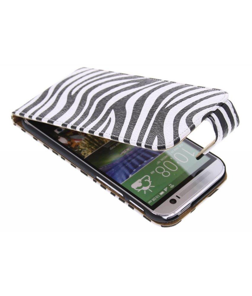 Zebra flipcase HTC One M8 / M8s