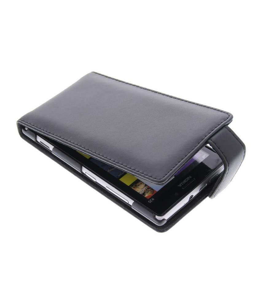 Zwart stijlvolle flipcase Nokia Lumia 925