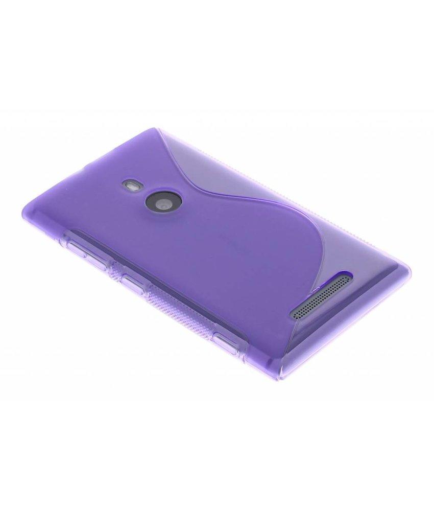 Paars S-line TPU hoesje Nokia Lumia 925