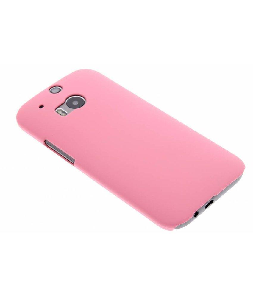 Roze effen hardcase HTC One M8 / M8s