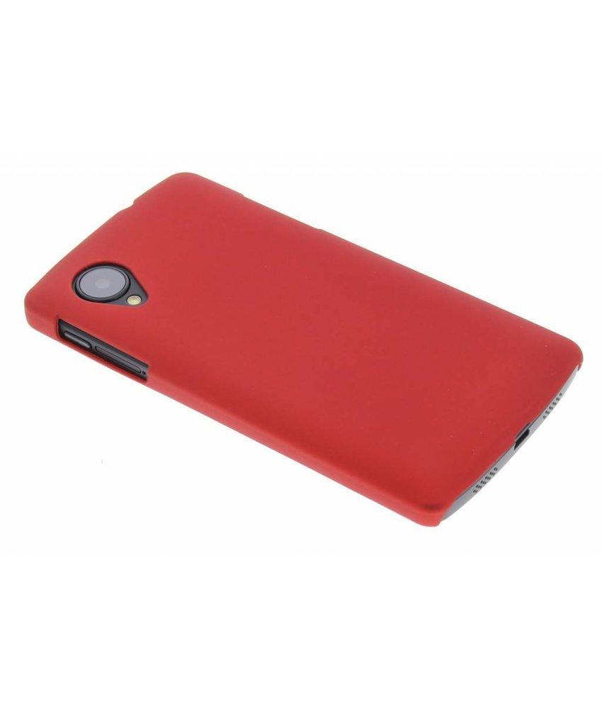 Rood effen hardcase hoesje LG Nexus 5