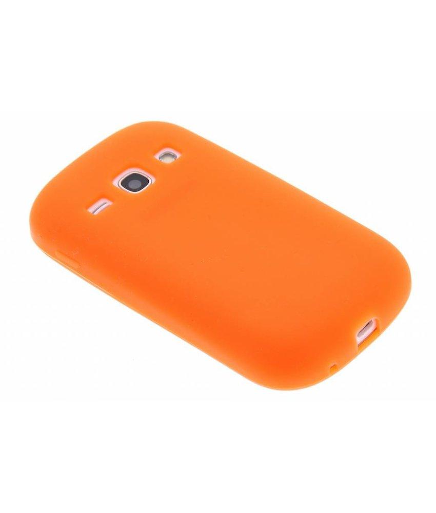 Oranje siliconen hoesje Samsung Galaxy Fame