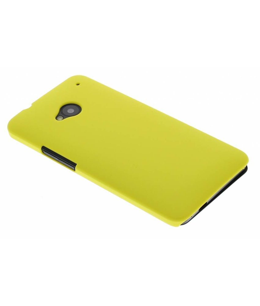 Geel effen hardcase HTC One