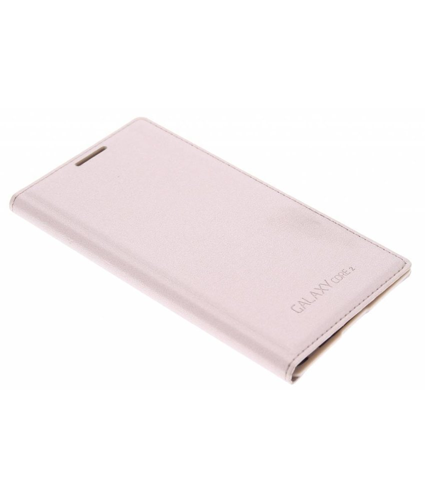 Goud flip wallet Samsung Galaxy Core 2