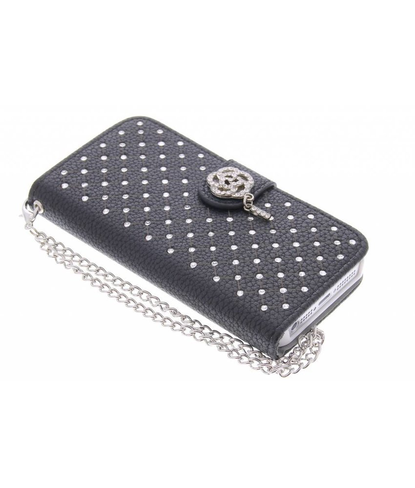 Chique strass booktype hoes iPhone 5 / 5s / SE