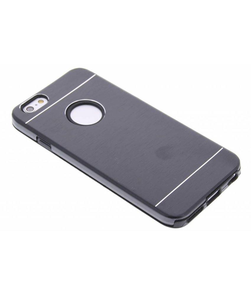 Brushed aluminium siliconen hardcase iPhone 6 / 6s