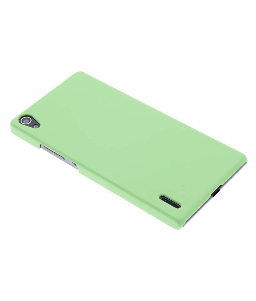 Groen effen hardcase hoesje Huawei Ascend P7