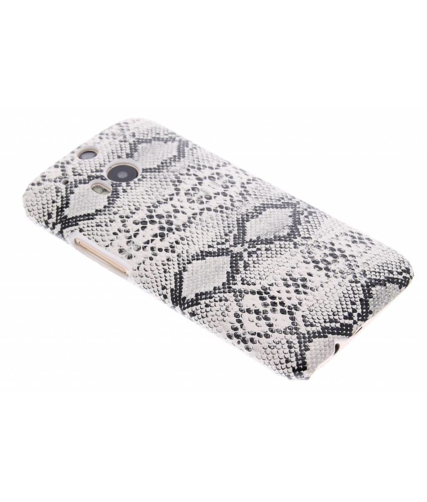 Wit slangen design hardcase HTC One M8 / M8s