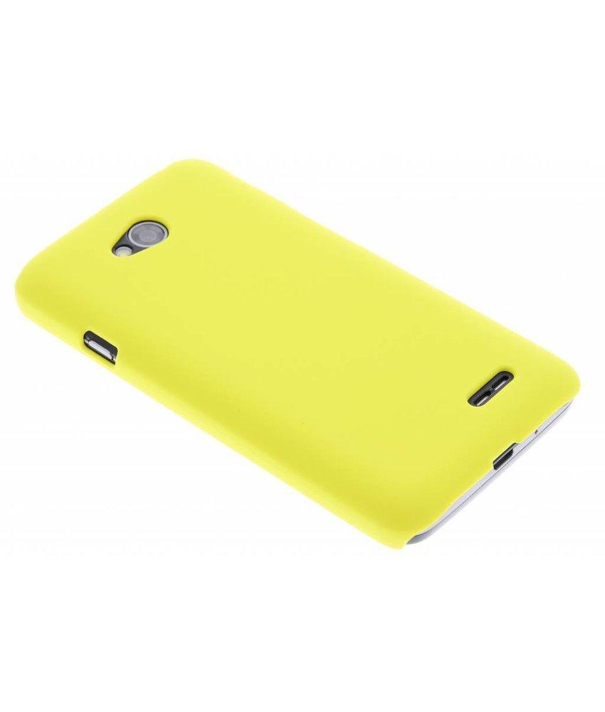 Geel effen hardcase hoesje LG L70