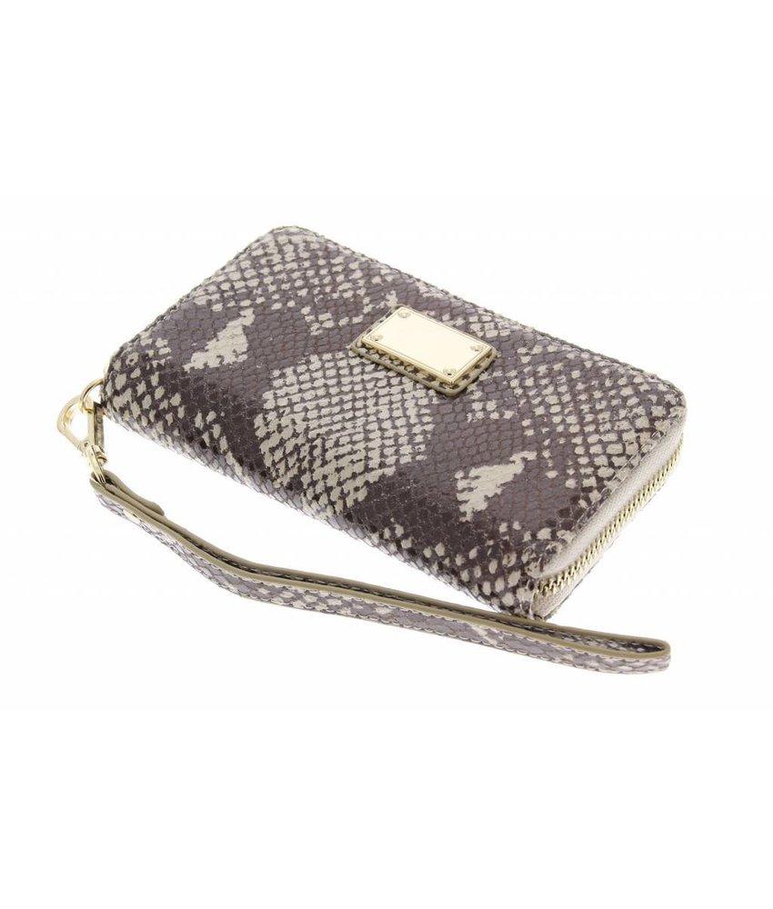 Luxe slangenleder design portemonnee hoesje