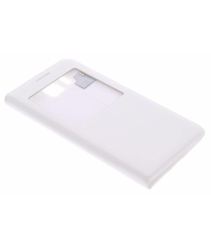 Wit flipcover met venster Samsung Galaxy Alpha