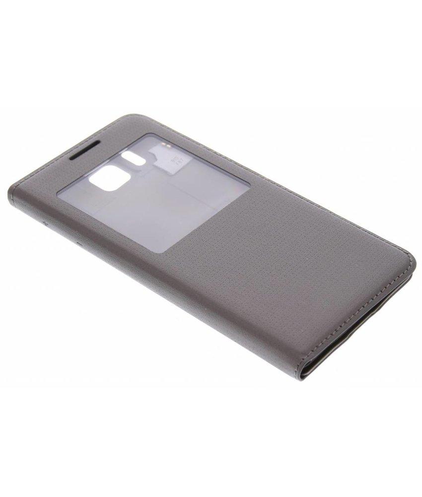Bruin flipcover met venster Samsung Galaxy Alpha