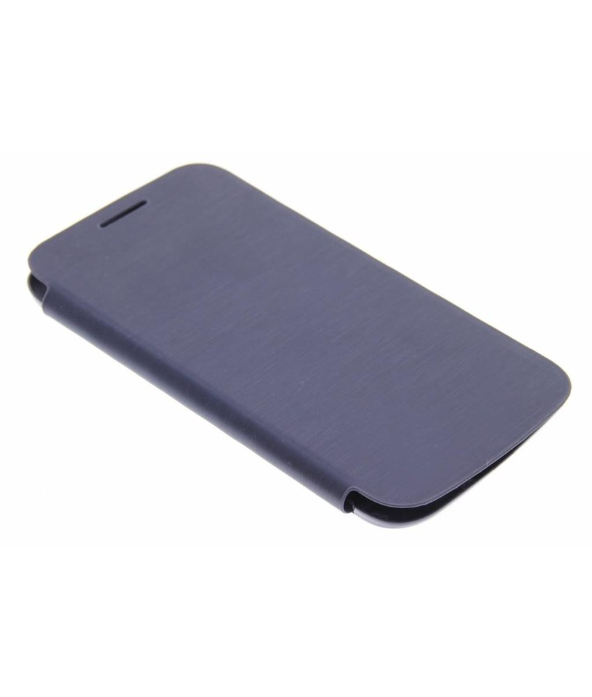 Donkerblauw flipcover Samsung Galaxy Core Plus