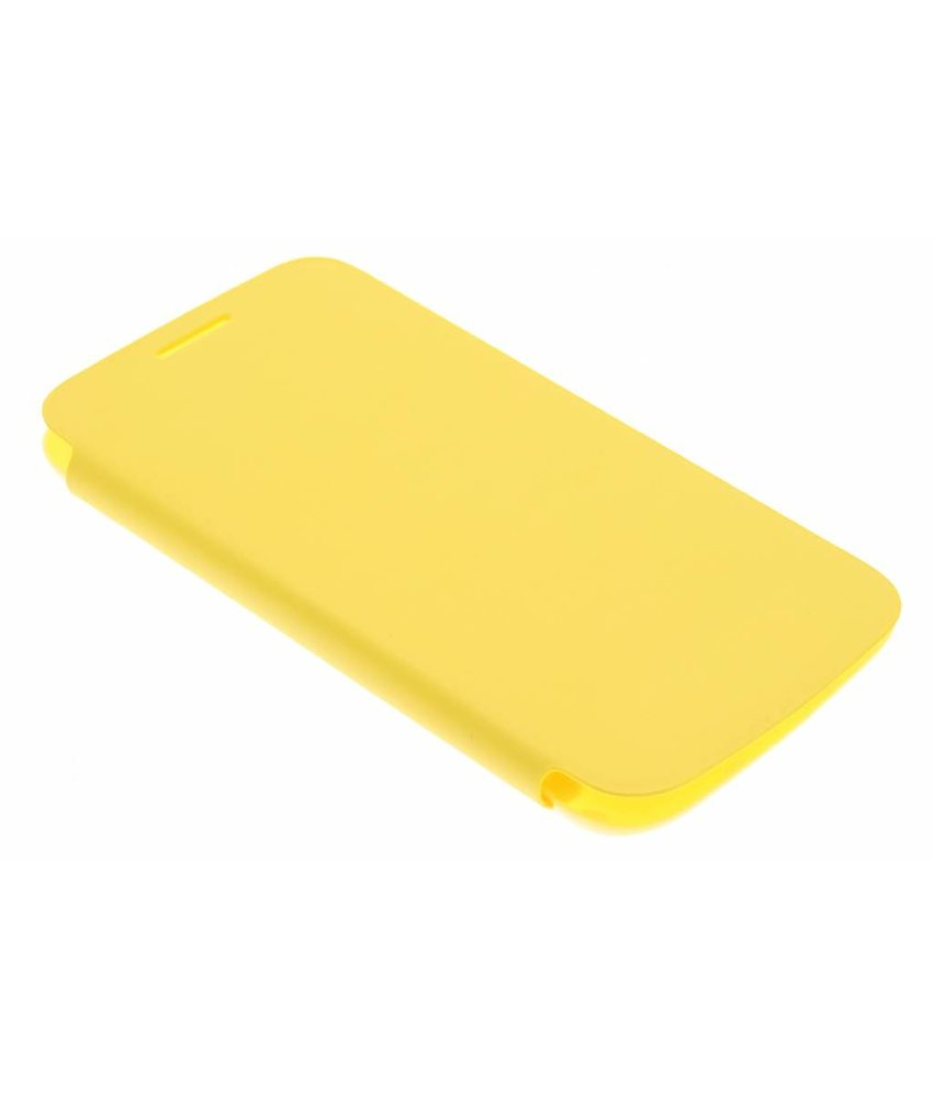 Geel flipcover Samsung Galaxy Core Plus