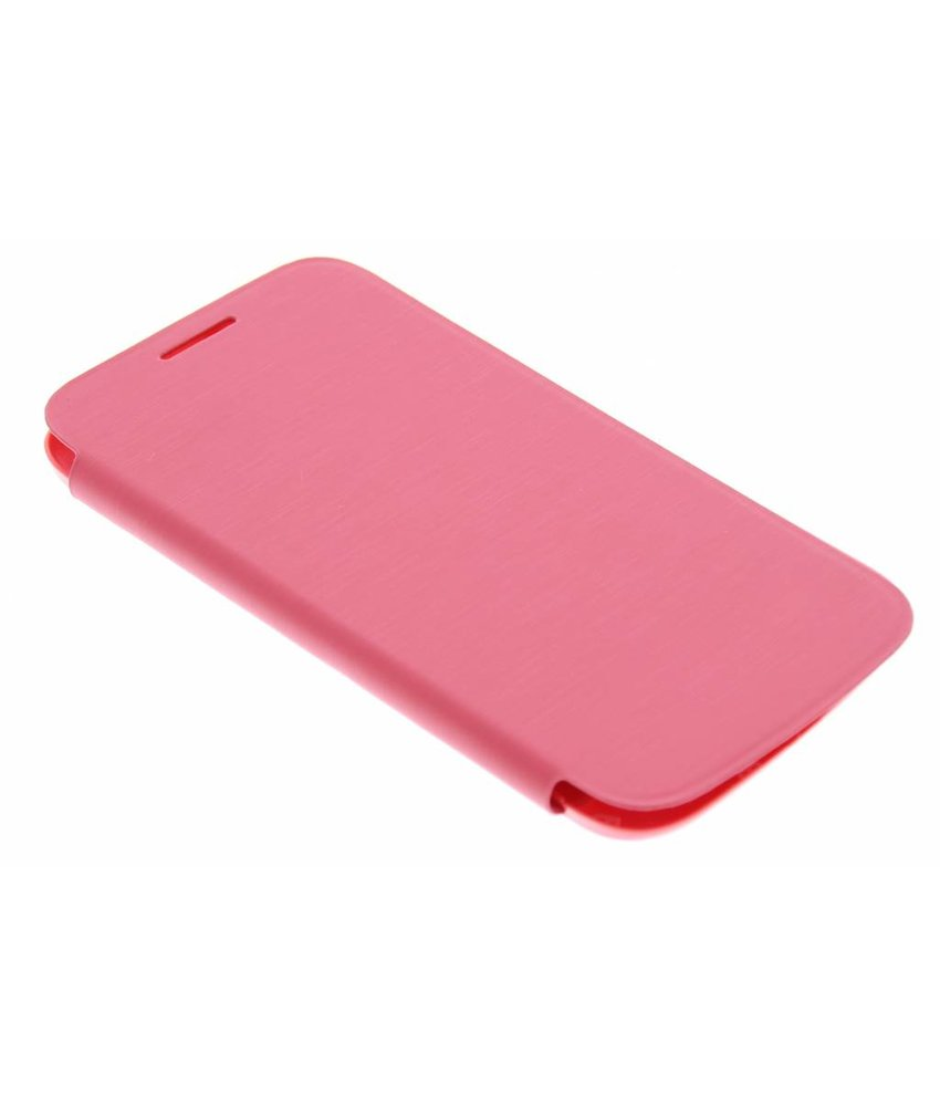 Roze flipcover Samsung Galaxy Core Plus