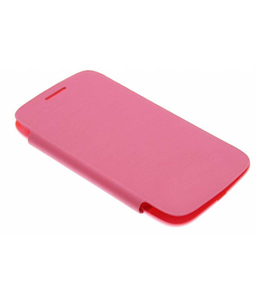 Roze flipcover Samsung Galaxy Core