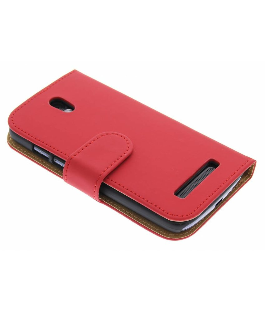 Rood effen booktype hoes HTC Desire 500