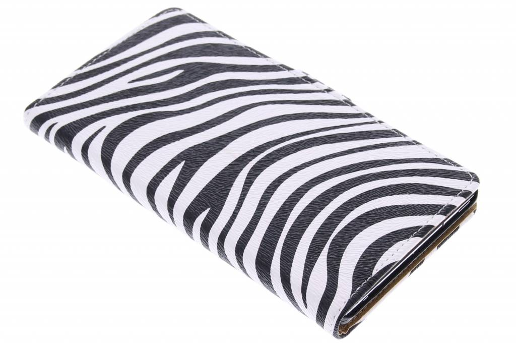 Zebra booktype hoes Sony Xperia T3 | TelefoonhoesjesXL.nl Zebra T3