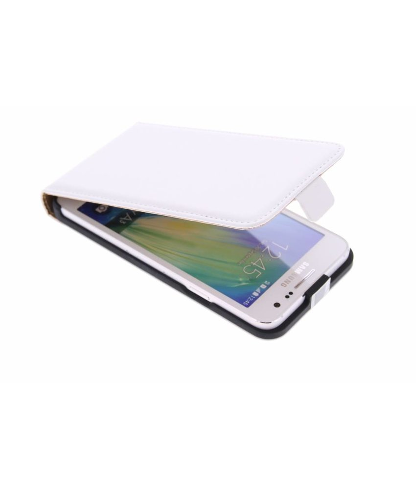 Wit luxe flipcase Samsung Galaxy A3