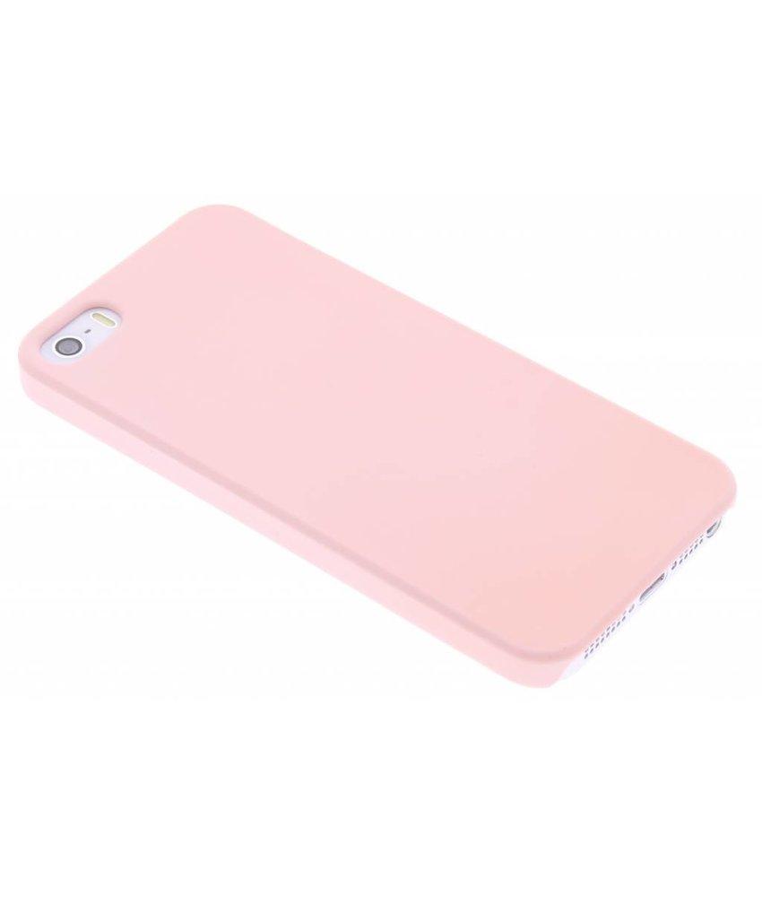 Poederroze pastel hardcase hoesje iPhone 5 / 5s / SE