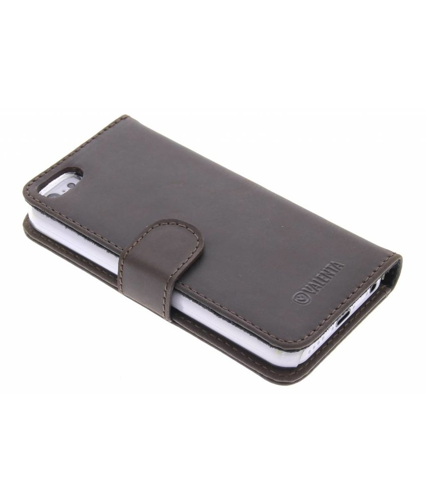 Valenta Booklet Classic Luxe iPhone 5c - Vintage Brown