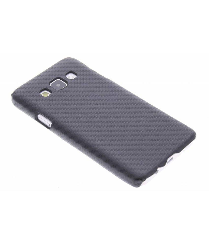 Zwart carbon look hardcase hoesje Samsung Galaxy A3